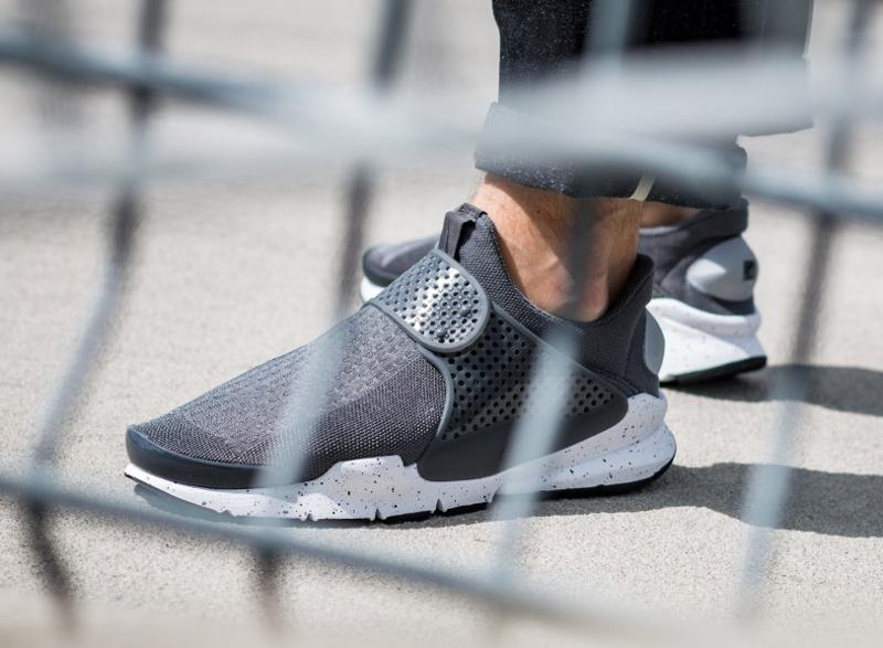 Chaussure Nike Sock Dart SE Wolf Grey Pink Blast (2)