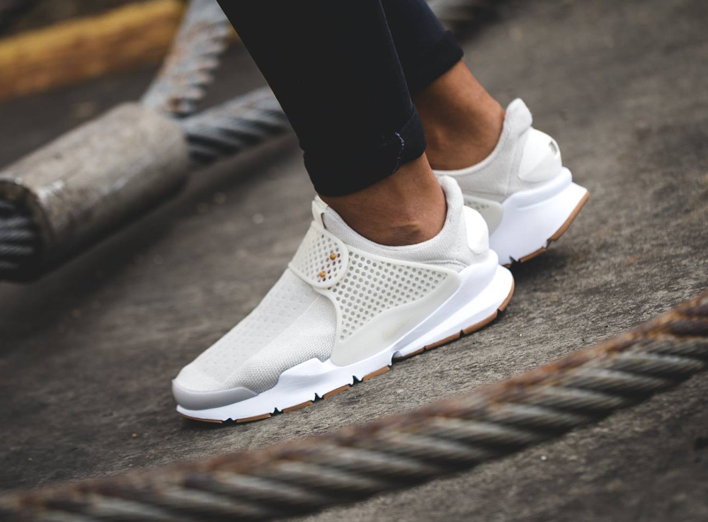 Chaussure Nike Wmns Sock Dart SE Light Bone Gum (femme) beige