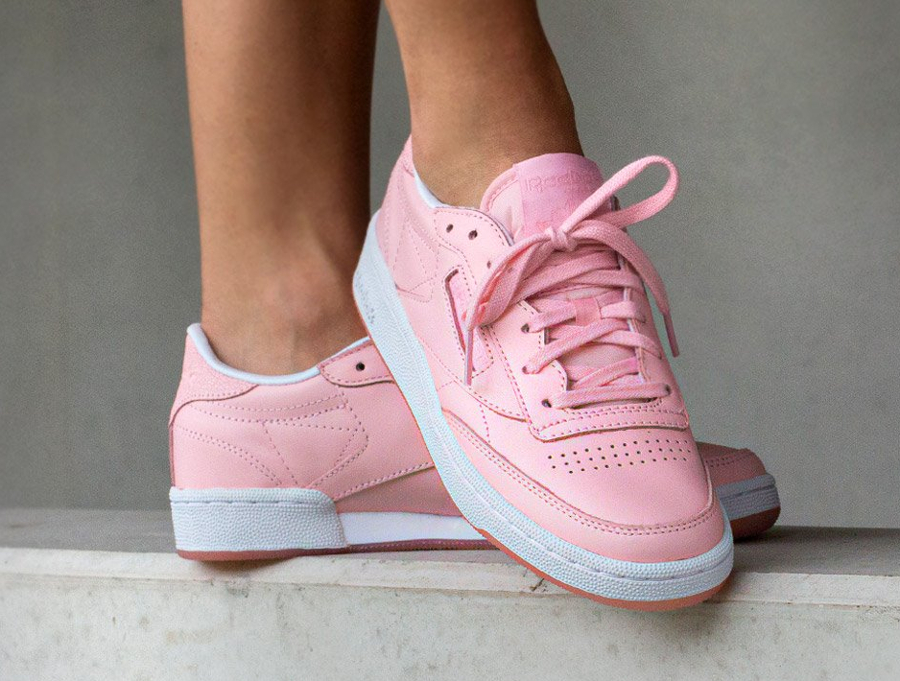 Face Stockholm x Reebok Classic Leather Genuis Pink Rose (femme) (2)