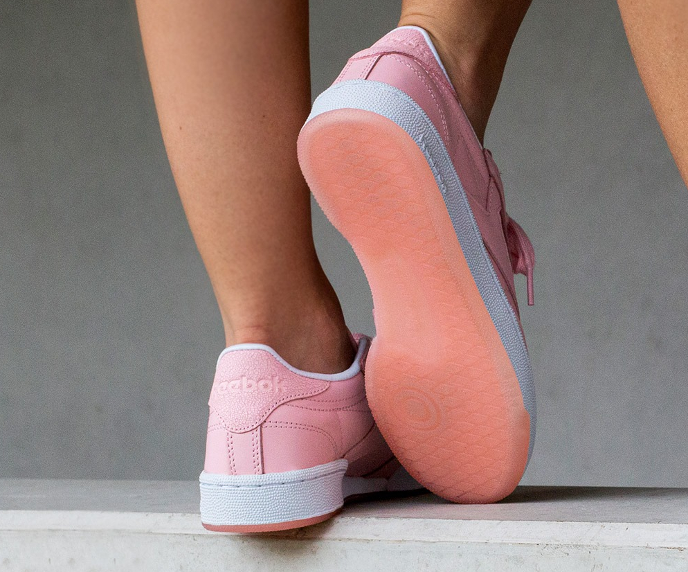 Face Stockholm x Reebok Classic Leather Genuis Pink Rose (femme) (3)