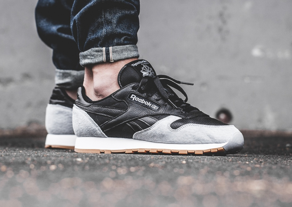 Kendrick Lamar x Reebok Classic Leather 'Perfect Split' Black Cloud Grey Gum (1)
