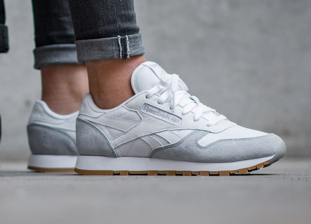 Kendrick Lamar x Reebok Classic Leather W 'Perfect Split' White Cloud Grey Gum (femme) (2)