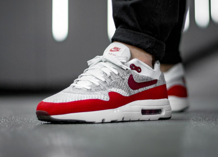 Nike Air Max 1 Ultra Flyknit OG White University (homme) (2)