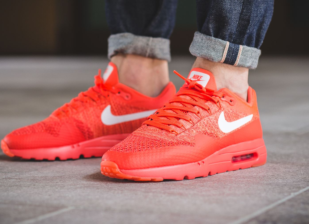 acheter chaussure Nike Air Max 1 Ultra Flyknit rouge (Bright Crimson White University Red) (homme) (1)