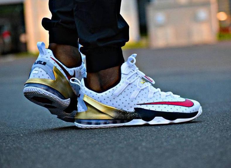 on sale 51cbb 3dc81 Nike Lebron 13 Low Olympic - Tresor Temuni ...