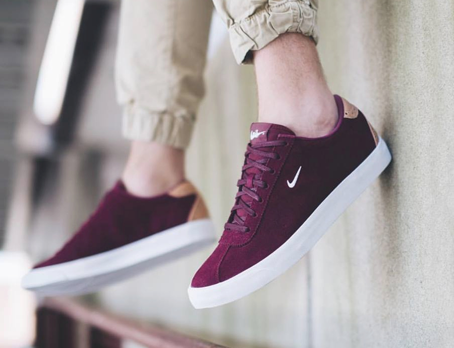 Nike Match Classic Suede PRM Brogue Night Maroon Vachetta Tan (1)