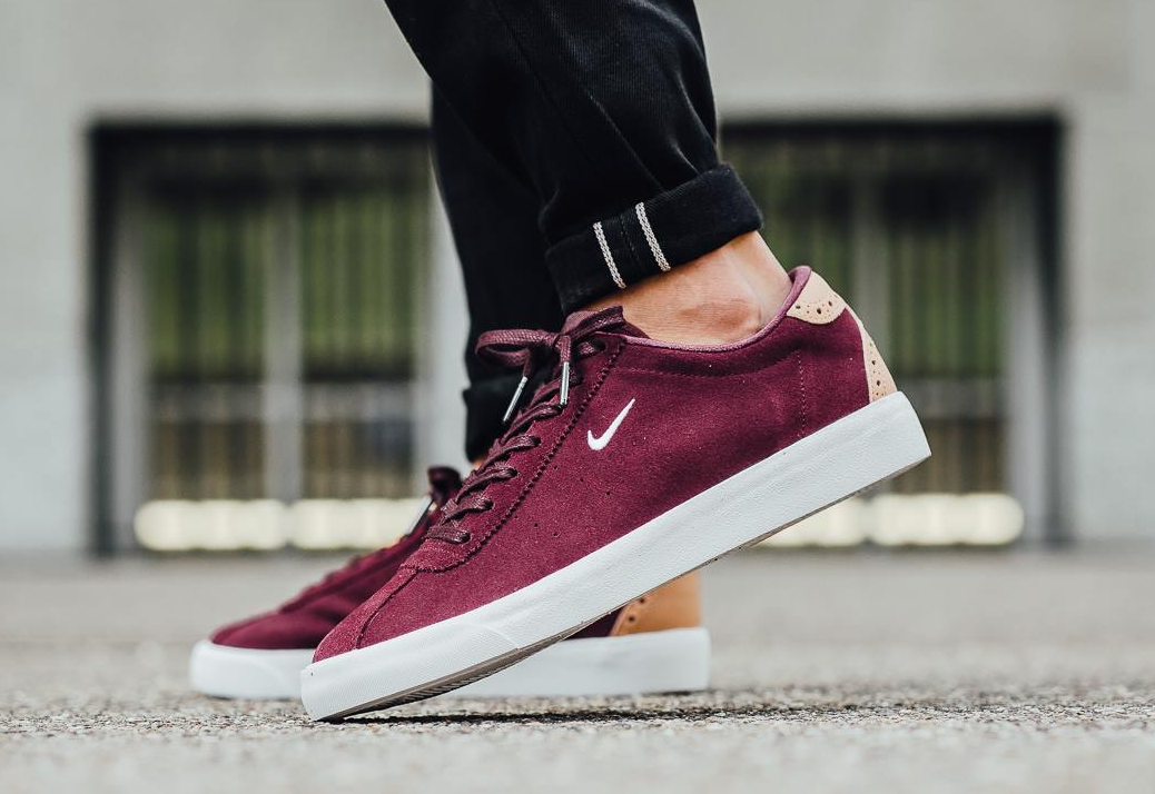 40aeede9c43 Nike Match Classic Suede PRM Brogue Night Maroon Vachetta Tan (2)