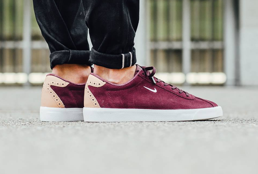 Nike Match Classic Suede PRM Brogue Night Maroon Vachetta Tan (3)