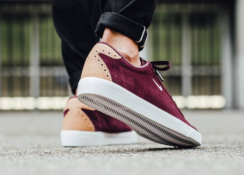Nike Match Classic Suede PRM Brogue Night Maroon Vachetta Tan (4)