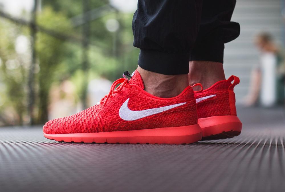Nike Roshe Flyknit NM Bright Crimson Red (rouge) (1)