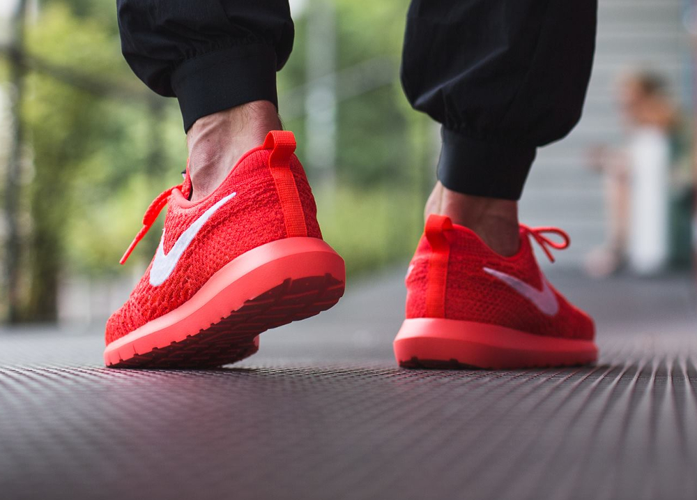 Nike Roshe Flyknit NM Bright Crimson Red (rouge) (2)