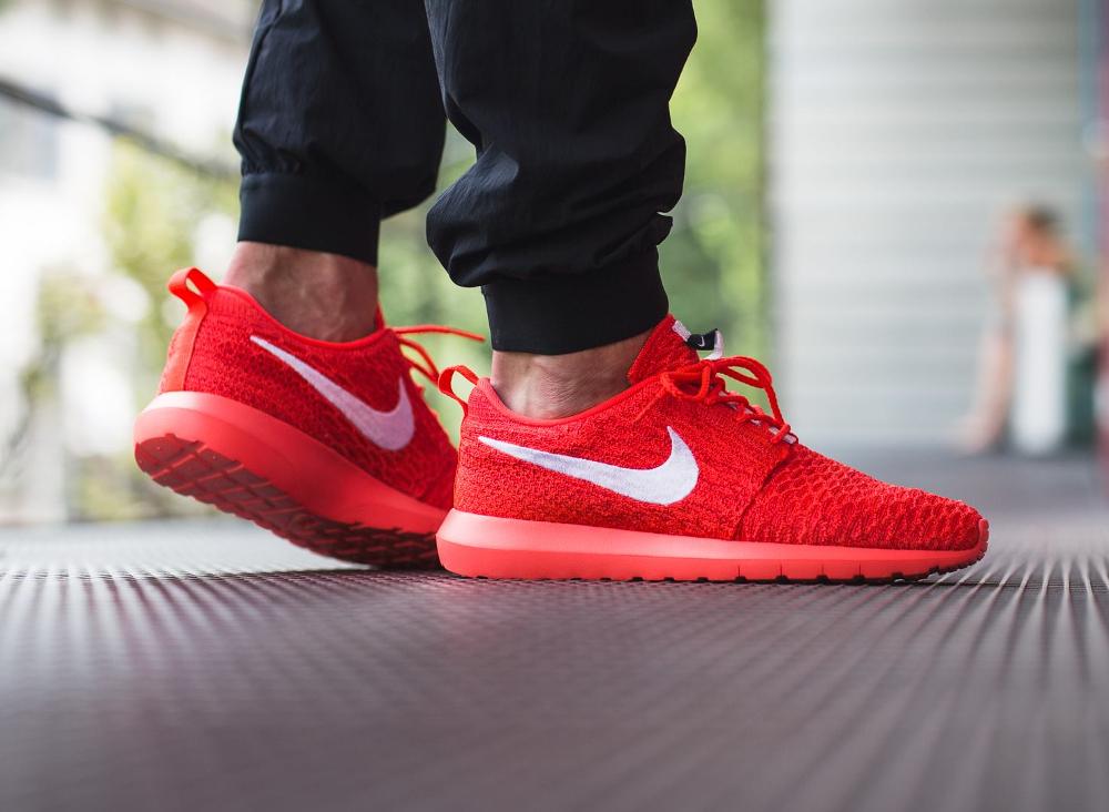 Nike Roshe Flyknit NM Bright Crimson Red (rouge) (3)