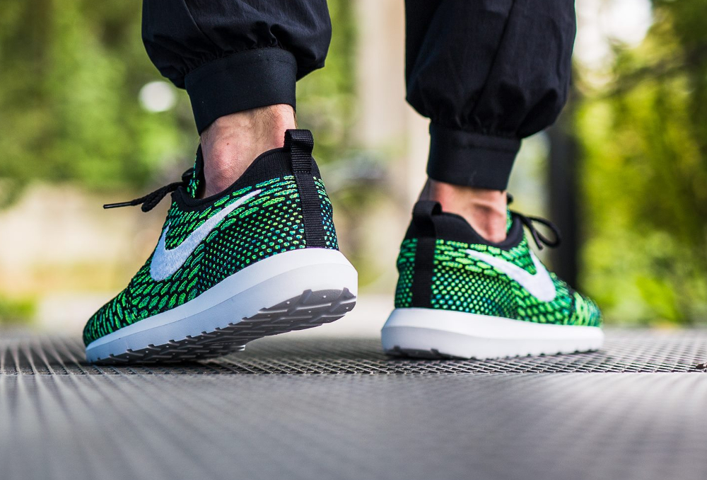 Nike Roshe Flyknit NM Multicolor Voltage Green (3)