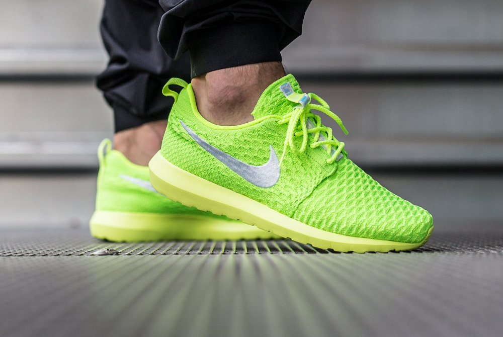 Nike Roshe Flyknit NM Volt Electric Green (fluo) (1)
