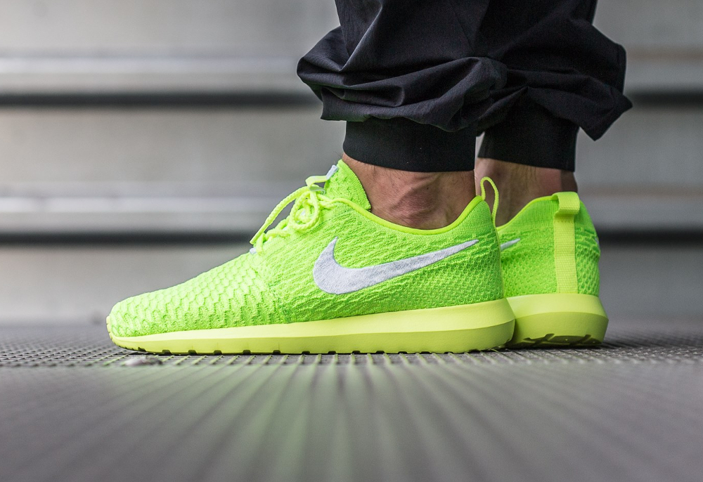Nike Roshe Flyknit NM Volt Electric Green (fluo) (2)