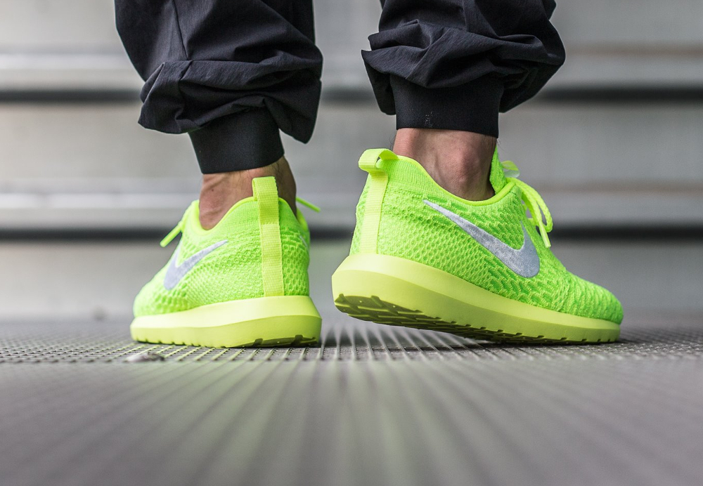 competitive price e33e2 e38b9 Nike Roshe Flyknit NM Volt Electric Green (fluo) (3)