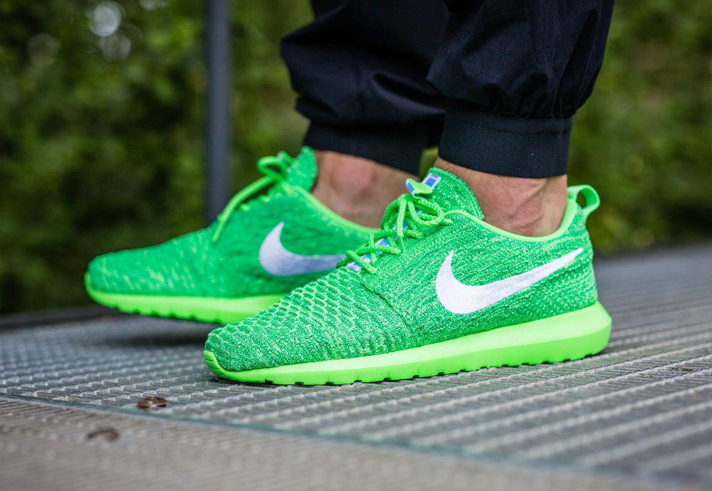 new arrival 5b61f 83651 Nike Roshe Flyknit NM Voltage Green (vert fluo) (1)