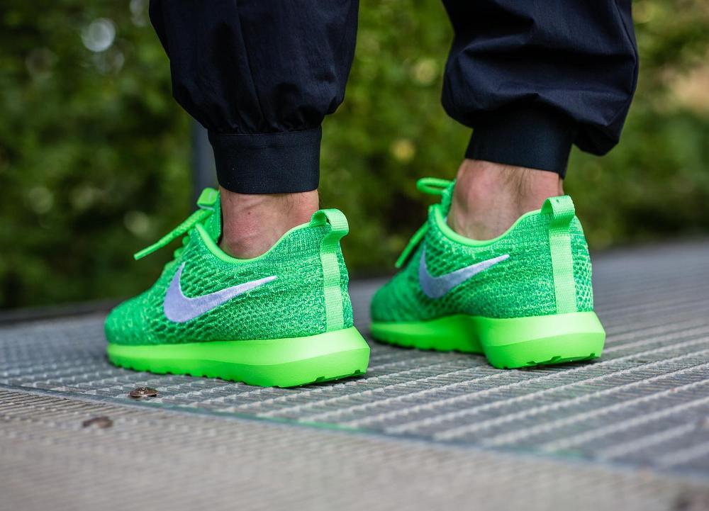 Nike Roshe Flyknit NM Voltage Green (vert fluo) (2)