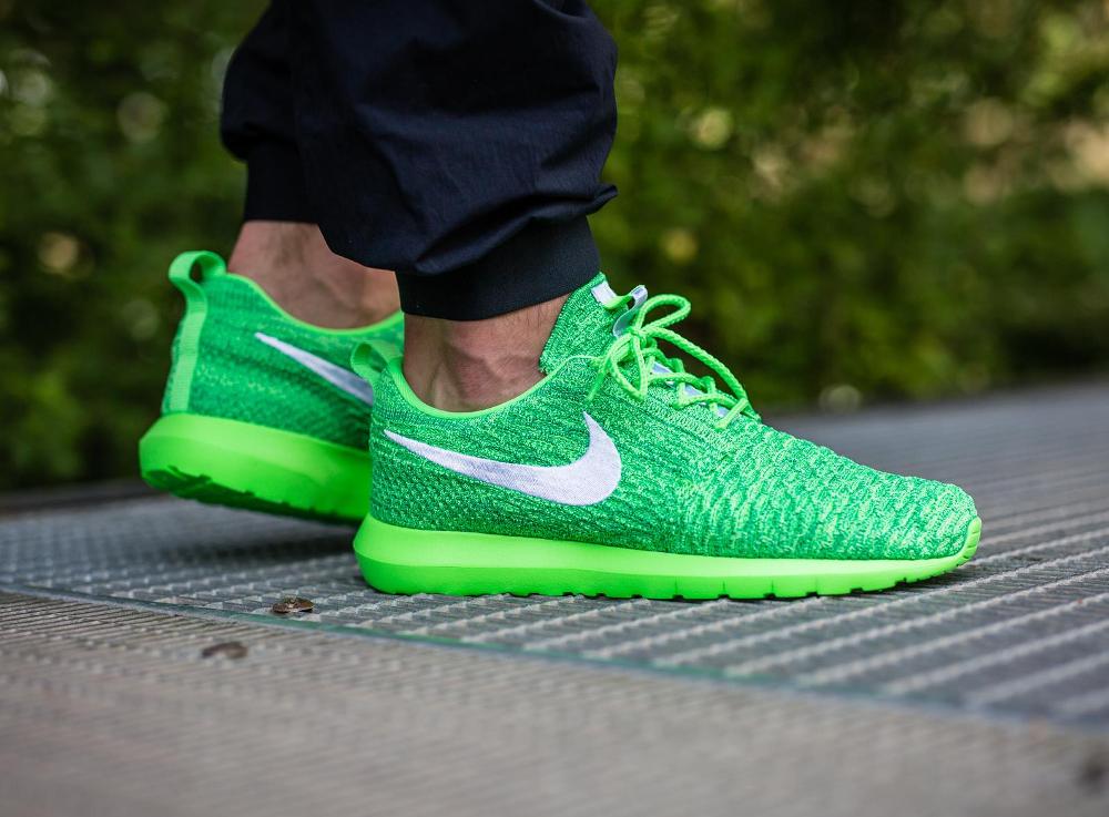 Nike Roshe Flyknit NM Voltage Green (vert fluo) (3)