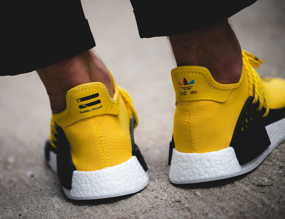 Pharrell Williams x Adidas NMD Runner 'Human Race' (jaune) (2)