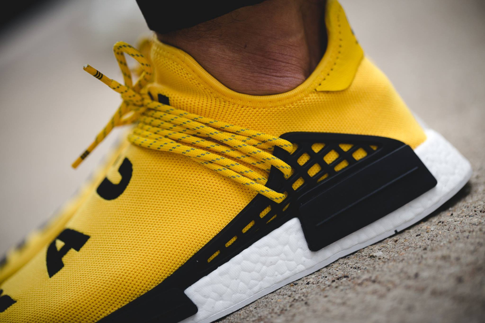 Pharrell Williams x Adidas NMD Runner 'Human Race' (jaune) (3)