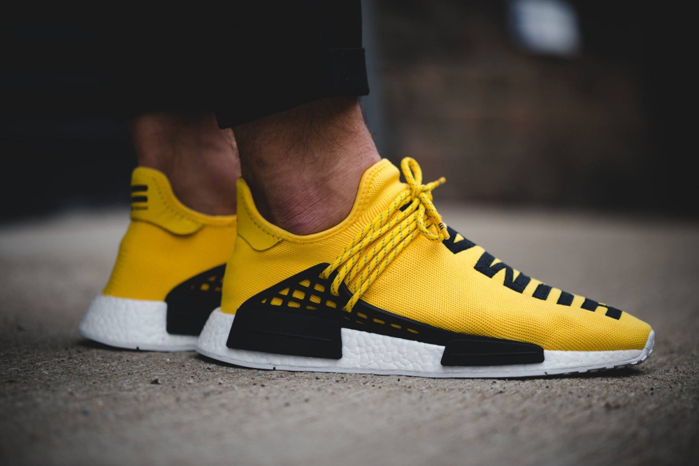 Pharrell Williams x Adidas NMD Runner 'Human Race' (jaune) (4)