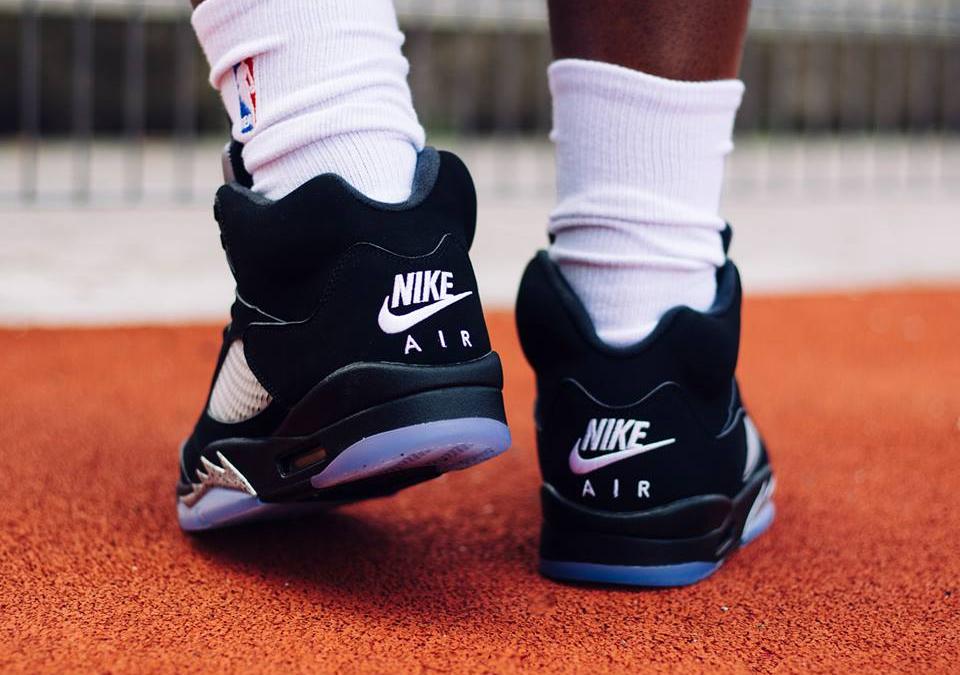 acheter Chaussure Nike Air Jordan 5 Retro OG Nike Air Black Metallic Silver 2016 (2)