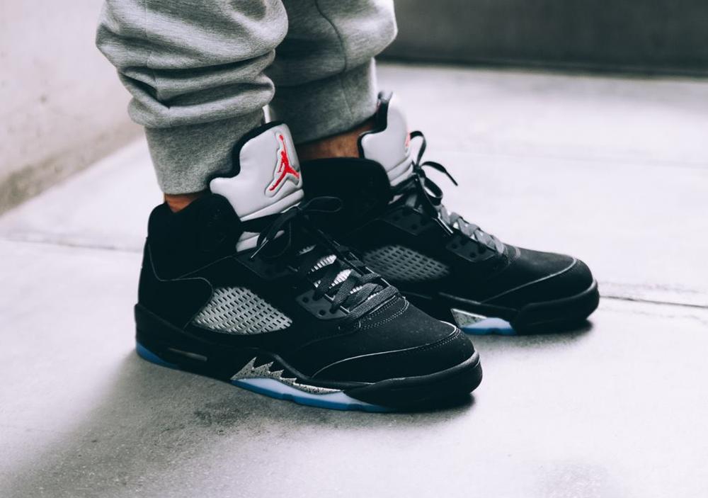 acheter Chaussure Nike Air Jordan 5 Retro OG Nike Air Black Metallic Silver 2016 (3)