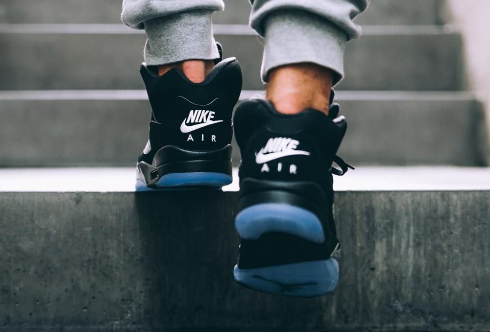 acheter Chaussure Nike Air Jordan 5 Retro OG Nike Air Black Metallic Silver 2016 (4)