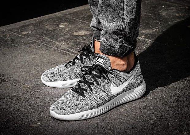 acheter Nike Lunarepic Flyknit Low 'Oreo' Black White