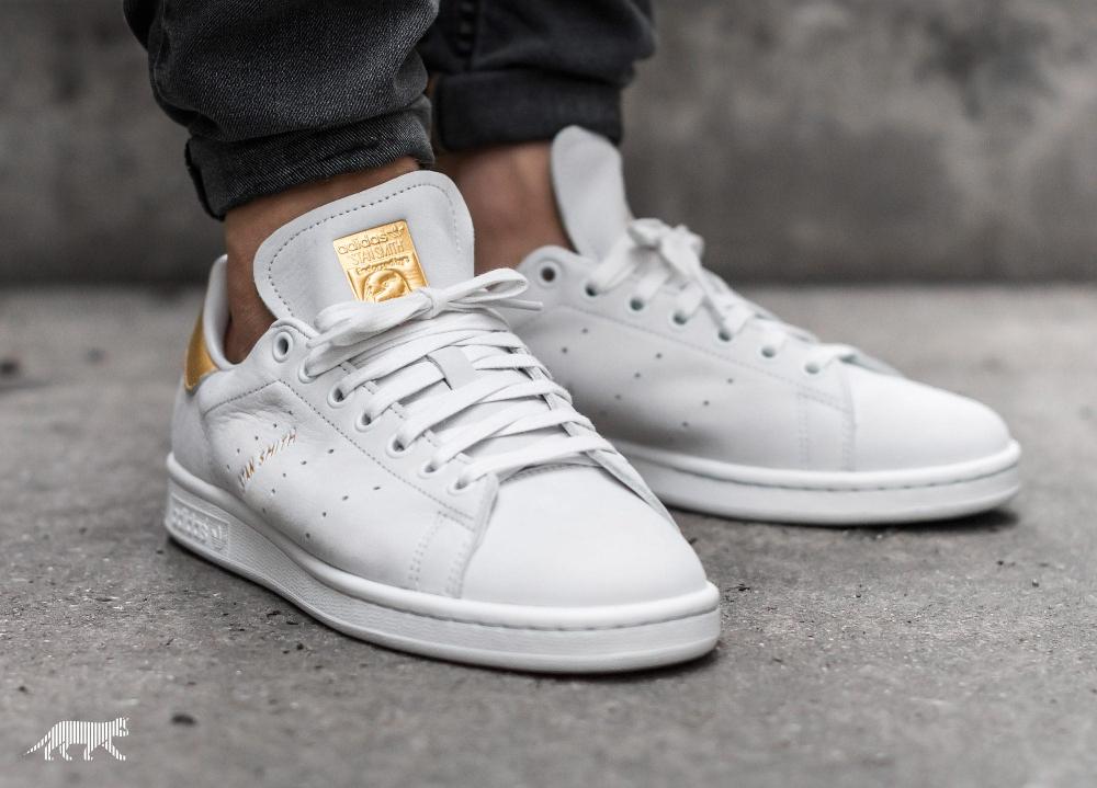 acheter chaussure Adidas Stan Smith PRM '999 Noble Metals' White Gold (dorée) (1)