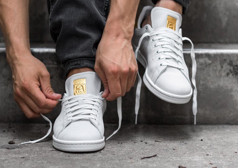 acheter chaussure Adidas Stan Smith PRM '999 Noble Metals' White Gold (dorée) (3)