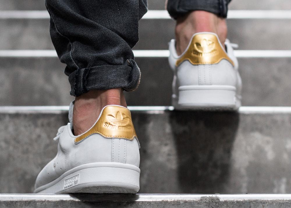 acheter chaussure Adidas Stan Smith PRM '999 Noble Metals' White Gold (dorée) (4)
