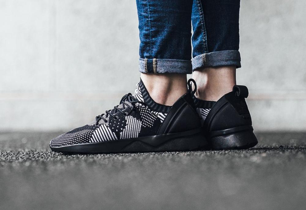acheter chaussure Adidas ZX Flux ADV Virtue Primeknit noire Black 3D Print (femme) (3)
