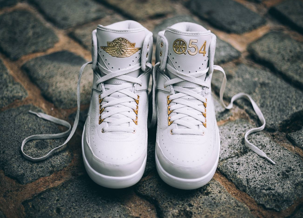 acheter chaussure Air Jordan 2 Retro 'Quai 54' Light Bone Metallic Gold