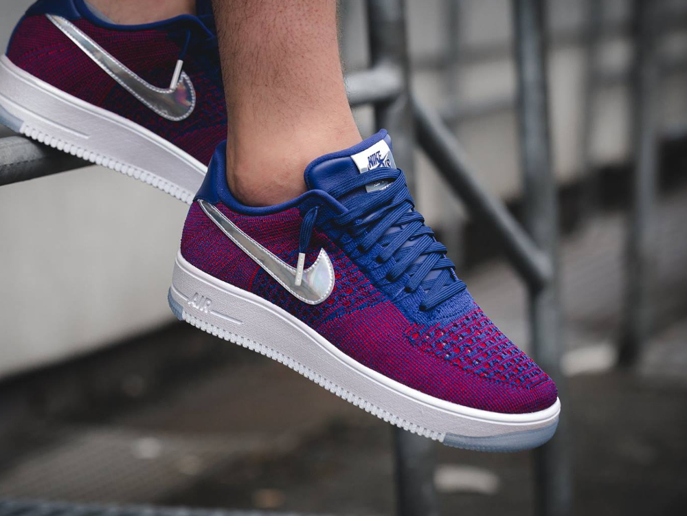 acheter chaussure Nike Air Force 1 Ultra Flyknit Low PRM 'USA' Iridescent Swoosh (1)