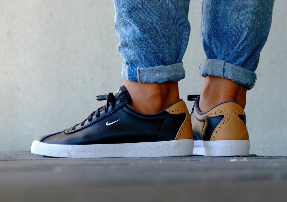 acheter chaussure Nike Match Classic Suede PRM Brogue Black Vachetta Tan (noire) (1)