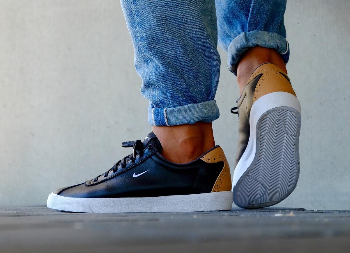 acheter chaussure Nike Match Classic Suede PRM Brogue Black Vachetta Tan (noire) (2)
