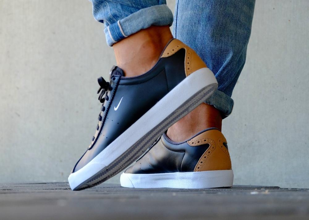 acheter chaussure Nike Match Classic Suede PRM Brogue Black Vachetta Tan (noire) (3)