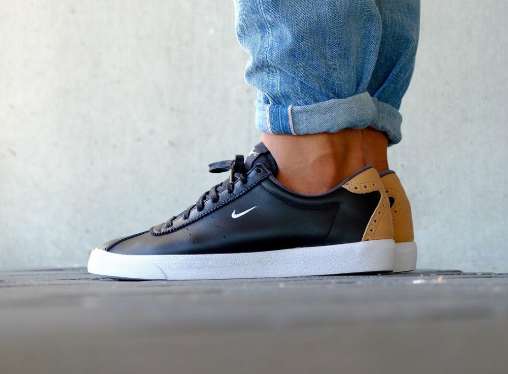 acheter chaussure Nike Match Classic Suede PRM Brogue Black Vachetta Tan (noire) (4)