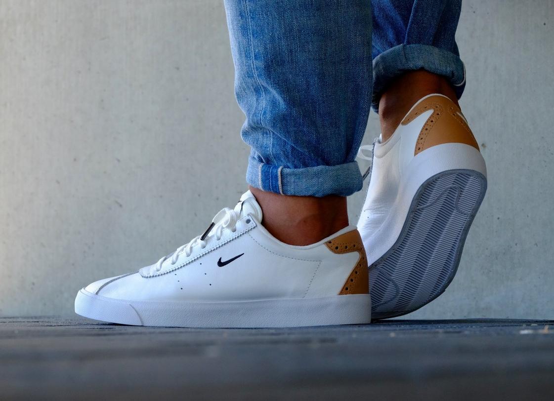 acheter chaussure Nike Match Classic Suede PRM Brogue White Vachetta Tan (blanche) (3)