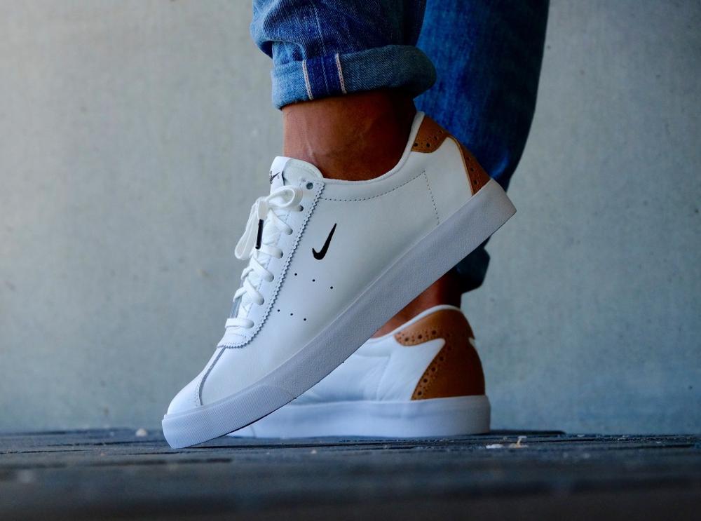 acheter chaussure Nike Match Classic Suede PRM Brogue White Vachetta Tan (blanche) (4)
