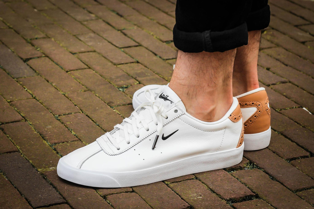 uk availability ab62d b3683 acheter chaussure Nike Match Classic Suede PRM Brogue White Vachetta Tan  (blanche)