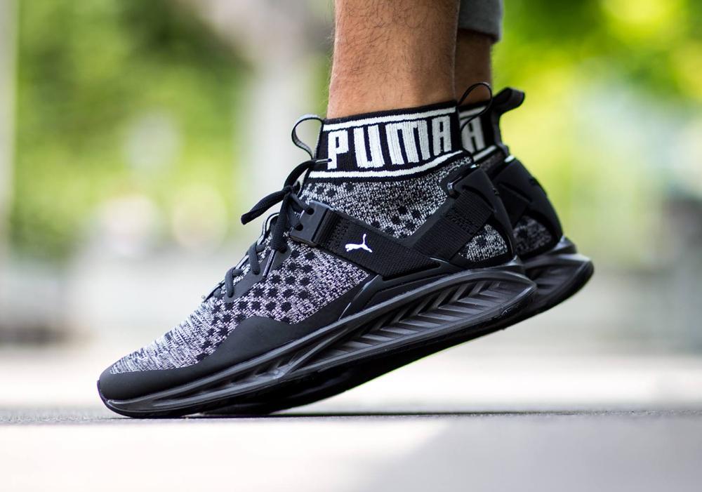 acheter chaussure Puma Ignite EvoKNIT Black White (2)