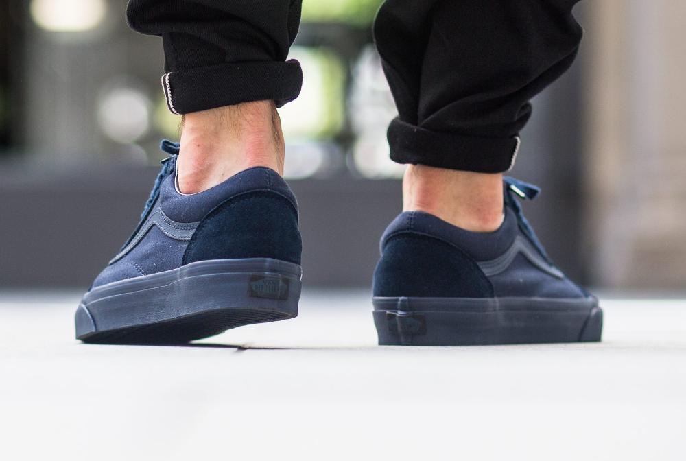 acheter chaussure Vans Old Skool Mono Dress Blues (bleu) (2)