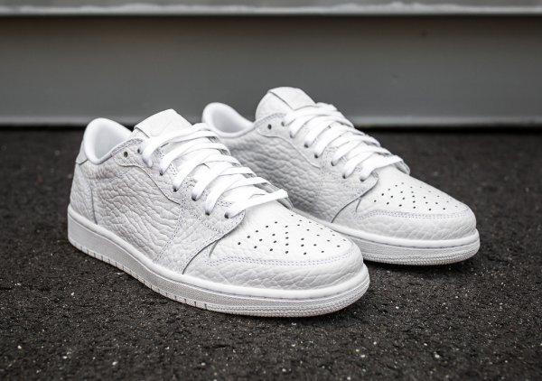 Air Jordan 1 Retro Low No Swoosh Premium 'White'