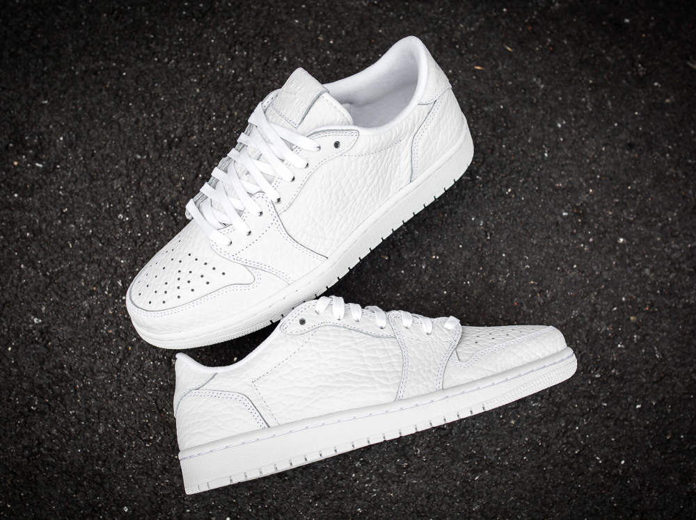 Air Jordan 1 Retro Low No Swoosh Premium 'White'