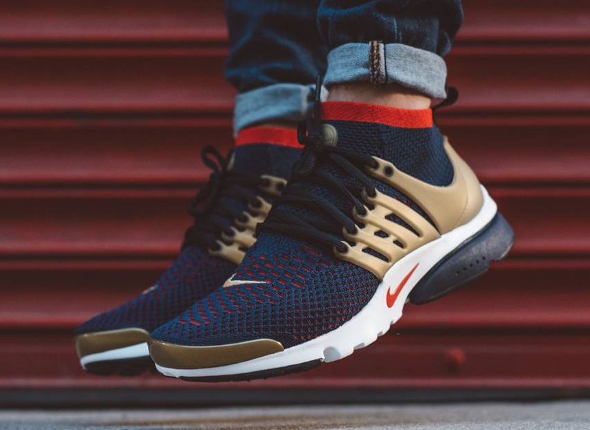 chaussure Nike Air Presto Ultra Flyknit 'Olympic USA' Navy Metallic Gold (1)