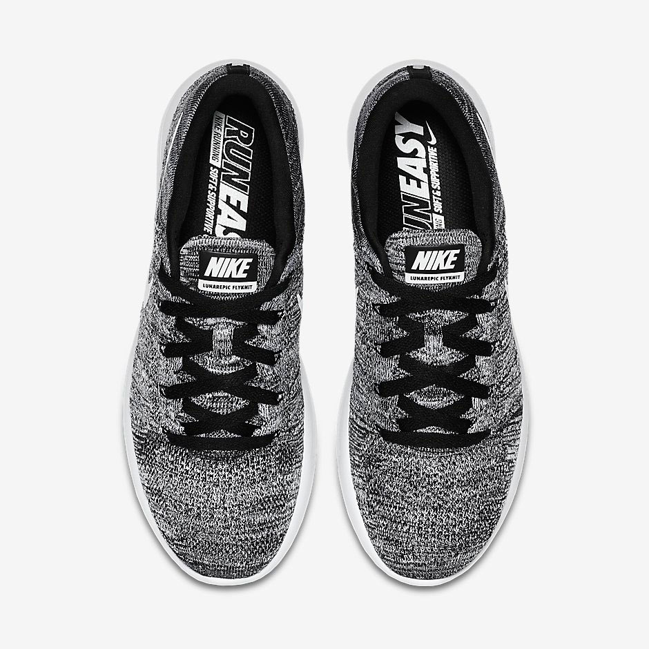chaussure Nike Lunarepic Flyknit Low 'Oreo' (4)