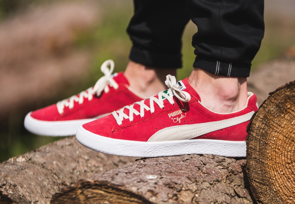 chaussure Puma Clyde OG Flag Barbados Cherry (3)